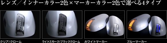 レンズ/インナーカラー2色×マーカーカラー2色で選べる4タイプ